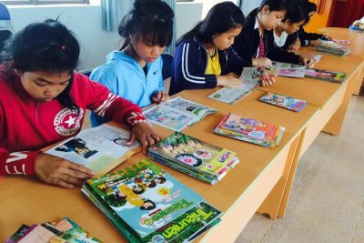 """Hình ảnh """"Hưởng ứng ngày đọc sách lần thứ 4""""  của Trường PTDTNT Đăk R'Lấp"""