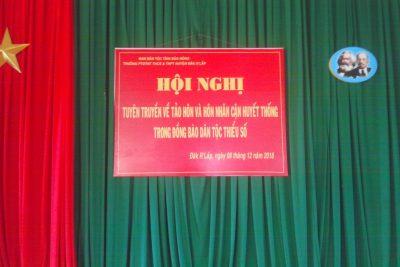 Ban Dân tộc tỉnh Đăk Nông phối hợp với BGH nhà trường tổ chức tuyên truyền, giáo dục pháp luật về tảo hôn và hôn nhân cận huyết thống.
