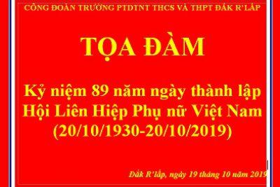 Công đoàn trường PTDTNT THCS & THPT Đắk R'Lấp kỷ niệm 89 năm ngày Phụ nữ Việt Nam